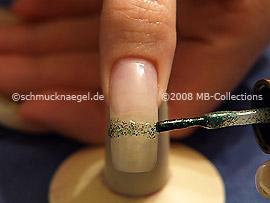 Esmalte en verde-Glitter