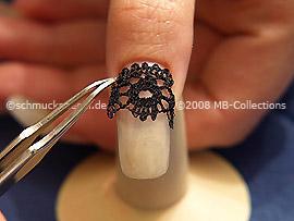 Pinzeta y encaje para uñas