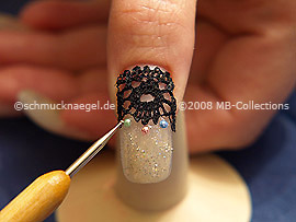 Spot-swirl y media perlas de diferentes colores