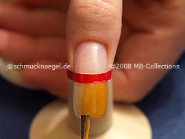 Esmalte de color naranja claro