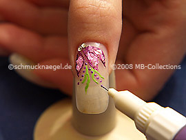 Nail art pen de color lila