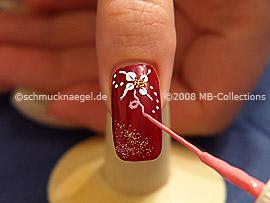 Nail art liner de color rosa