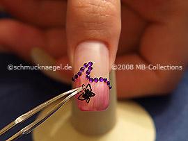 Pegatina adhesiva en 3D y pinzeta