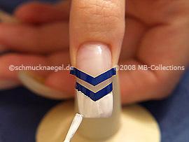 Nail art pen o esmalte de color blanco