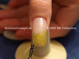 Esmalte de color oro-Glitter