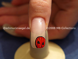 Halloween motivo 2 - Nail art motivo 143