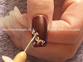 Nail art bouillons en plata