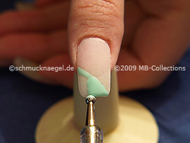 Spot-Swirl y gel de color menta
