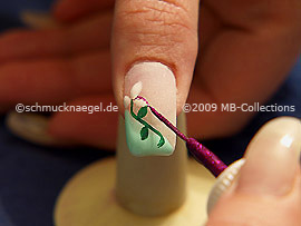 Nail art liner de color fucsia-Glitter