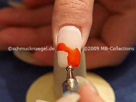 Spot-Swirl y gel de color naranja