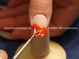 Pincel fino para nail art y el gel de color blanco