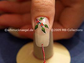 Nail art liner en rojo-Glitter