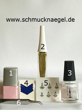 Productos para motivo con nail sticker y esmalte en rosa - Esmalte, Nail art liner, Nail sticker