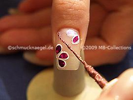 Nail art liner de color rosa antigua-Glitter