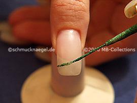 Nail art liner en verde-Glitter