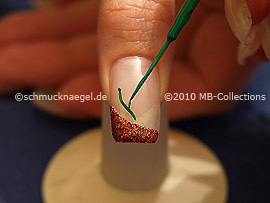 Nail art liner de color verde