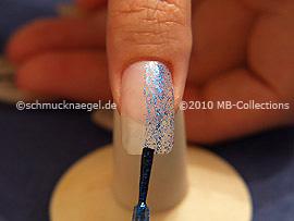 Esmalte en azul-Glitter