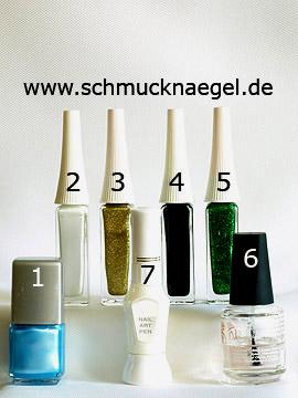 Productos para motivo de mariposa para decorar las uñas - Esmalte, Nail art liner, Nail art pen