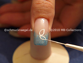 Nail art liner de color blanco
