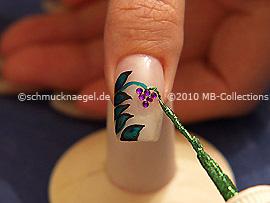 Nail art liner de color verde-Glitter