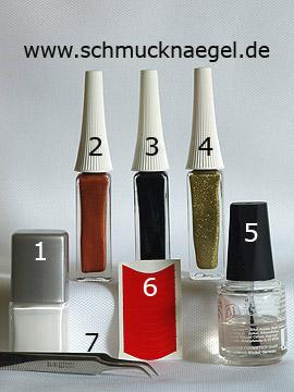 Productos para diseño manicura francesa para uñas y nail art liner - Esmalte, Nail art liner, Plantillas manicura francesa