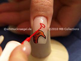 Nail art liner de color rojo