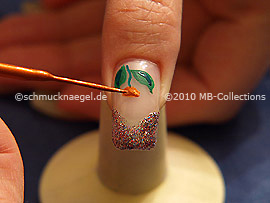 Nail art liner de color marrón