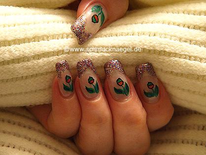 Decoración de uñas con multi-glitter