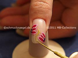 Nail art liner en oro-Glitter