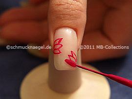 Nail art liner de color lavanda