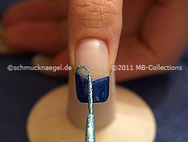 Nail art liner en turquesa-Glitter