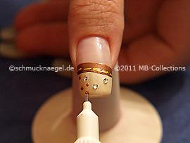 Nail art pen de color marrón