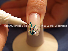 Nail art pen de color verde claro