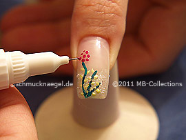 Nail art pen de color fucsia