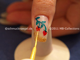 Nail art liner de color oro