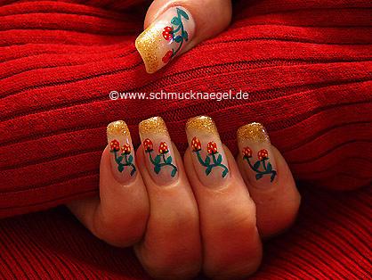 Fresa arbustos para decoración de uñas
