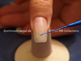 Nail art liner de color azul