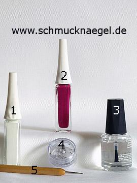 Productos para diseño floral con nail art liner y piedras strass - Nail art liner, Piedras strass, Spot-Swirl