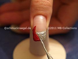 Nail art liner de color plata-Glitter
