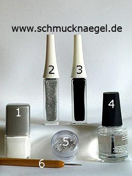 Productos para motivo 'Embellecer las uñas con esmalte y piedras strass' - Esmalte, Nail art liner, Piedras strass, Spot-Swirl
