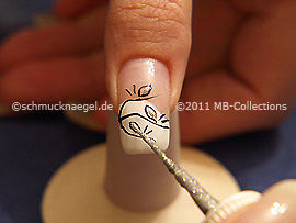 Nail art liner en plata-Glitter