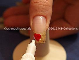 Nail art pen de color rojo