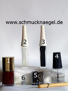 Productos para manicura francesa con piedra strass floral - Esmalte, Nail art liner, Piedras strass, Spot-Swirl