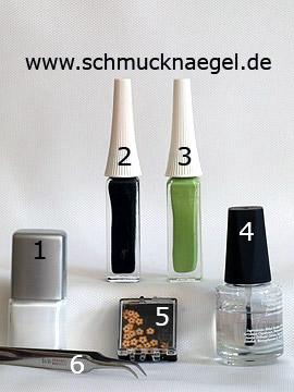 Productos para motivo de primavera con flores fimo - Esmalte, Nail art liner, Flores fimo