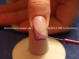Nail art liner de color lila-Glitter