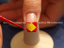 Nail art liner de color rojo