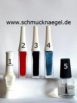 Productos para diseño 'Chancletas motivo de verano en uñas' - Nail art pen, Nail art liner