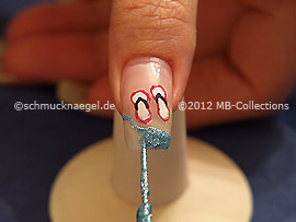 Nail art liner de color turquesa
