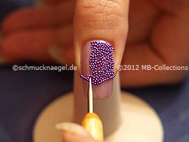 Spot-swirl y las micro perlitas en lila
