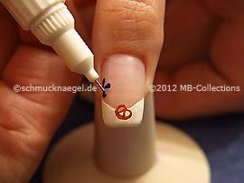 Nail art pen de color azul